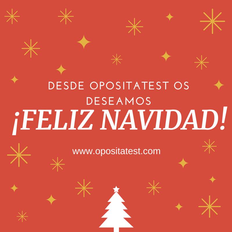 OpositaTest os desea Feliz Navidad