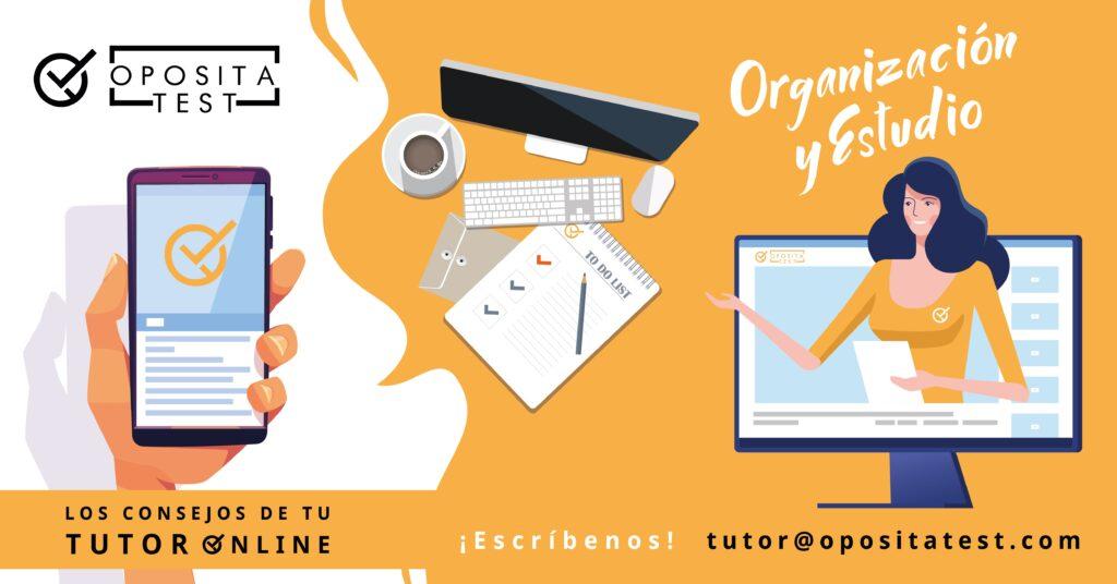 Imagen ilustrativa para acompañar la campaña #TutorOnline. Creatividad específica para la sección en la que se comparten consejos de planificación y estudio