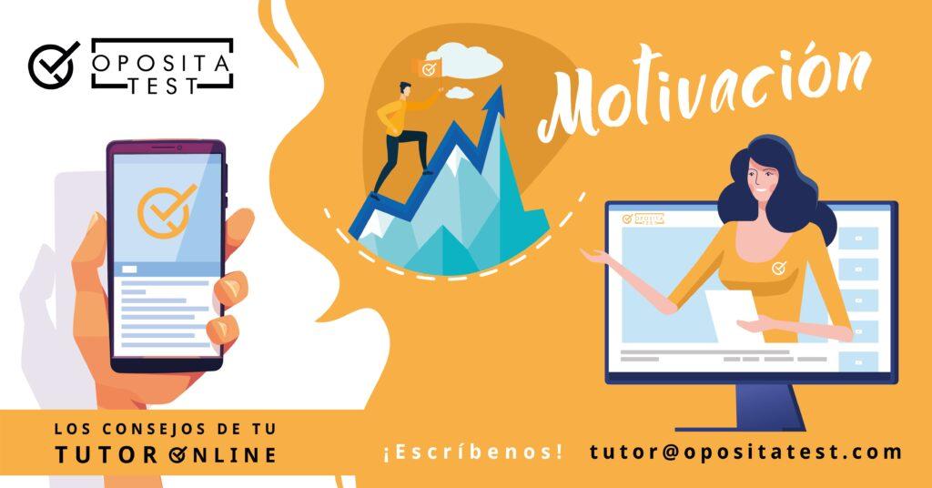 Imagen ilustrativa de la campaña #TutorOnline Creatividad específica para la sección donde se comparten consejos de motivación