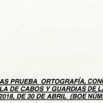 Plantilla de los exámenes de Guardia Civil