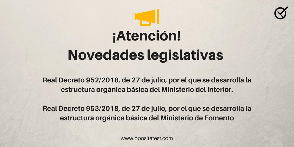 Novedades Legislativas Cambios En La Estructura Orgánica