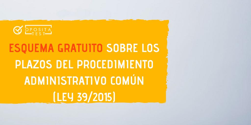 Descarga Un Esquema Gratis Sobre Los Plazos Del Procedimiento Administrativo Común Ley 39 2015 Blog De Oposiciones Opositatest