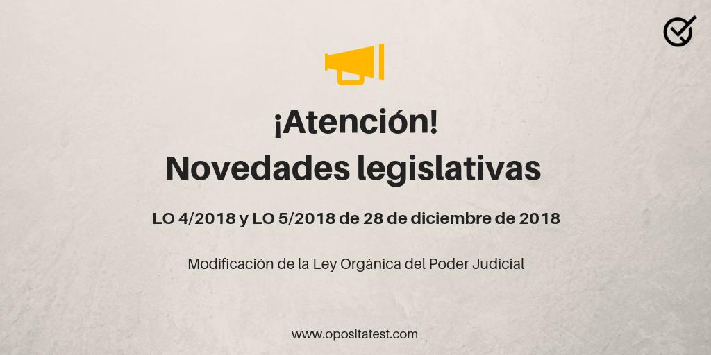 Modificación de la Ley Orgánica del Poder Judicial