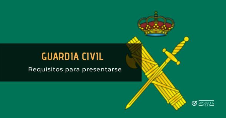 Escudo de la Guardia Civil sobre fondo verde para ilustrar una entrada en la que se analizan los requisitos para acceder a la oposición de Guardia Civil