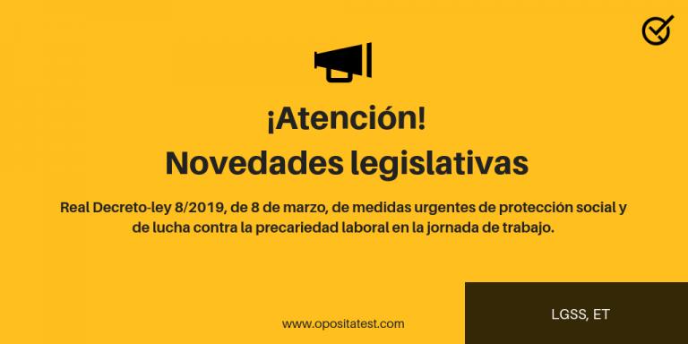 Novedades legislativas: reforma Ley General Seguridad Social y del Estatuto de los Trabajadores