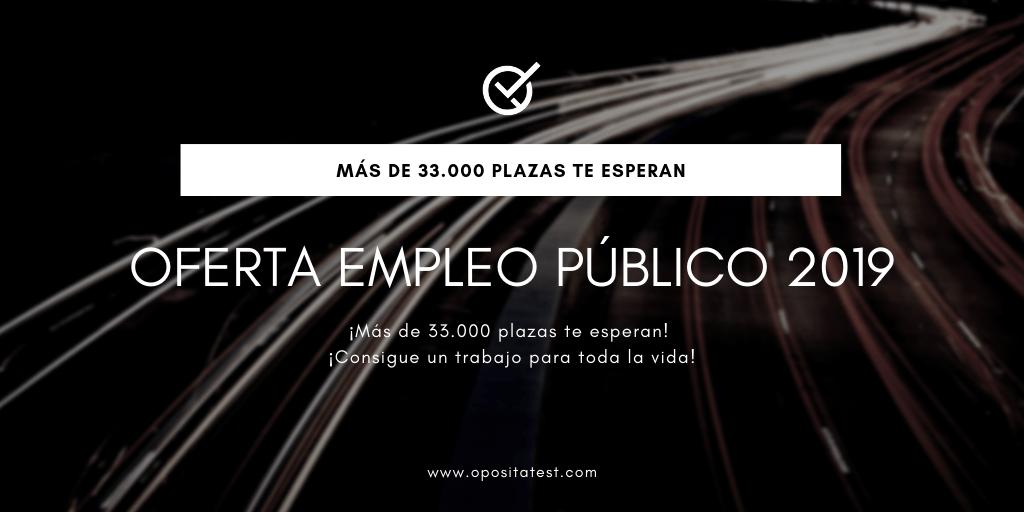 Plazas OEP 2019