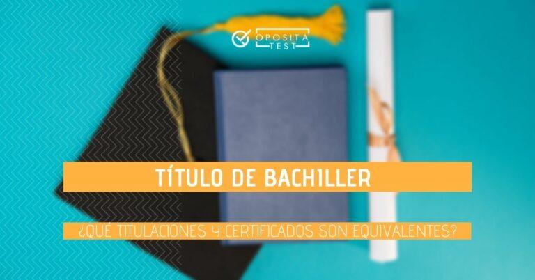 Imagen ilustrativa de birrete, diploma y libreta para acompañar un post sobre los títulos que equivalen a Bachiller o Bachillerato