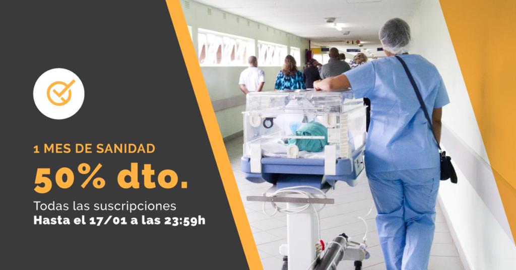 Imagen ilustrativa de entorno hospitalario para acompañar el descuento del 50% en el producto legislación común del Servicio Aragonés de Salud