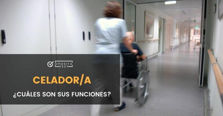 Imagen de personal sanitario empujando paciente en silla de ruedas para acompañar una entrada en la que se analizan las funciones de un celador o celadora en los Servicios de Salud del Sistema de Sanidad de España