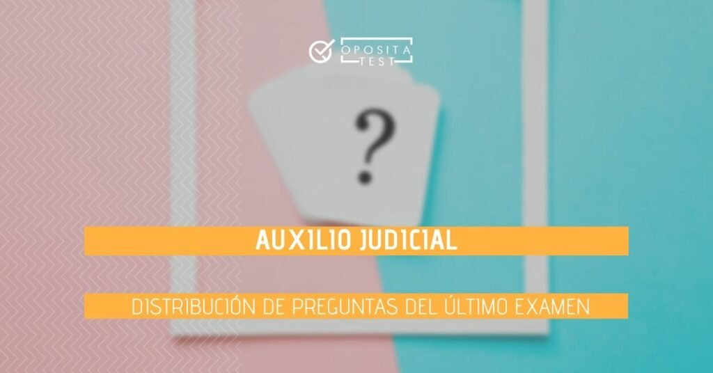 Imagen ilustrativa de cartas con signo de interrogación fuera de foco para ilustrar el post en el que se analiza la distribución de preguntas del úlimo examen de auxilio judicial
