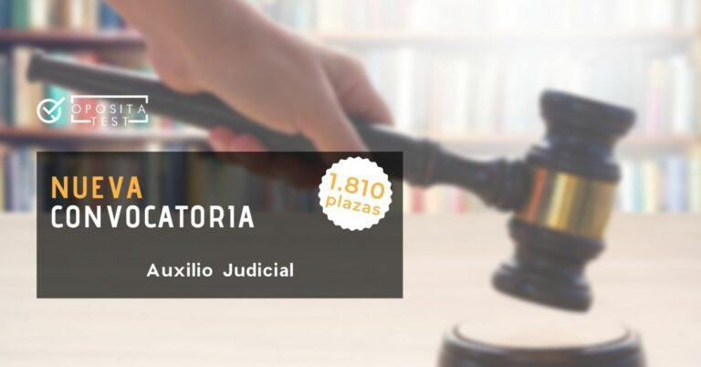 Imagen ilustrativa de un mazo de juez para acompañar el post en el que se detalla cómo será la convocatoria de auxilio judicial de 2020