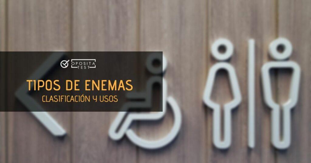 Imagen genérica de signo con símbolos de hombre/mujer/persona discapacitada en aseo público para acompañar un contenido en el que se analizan los distintos tipos de enemas.