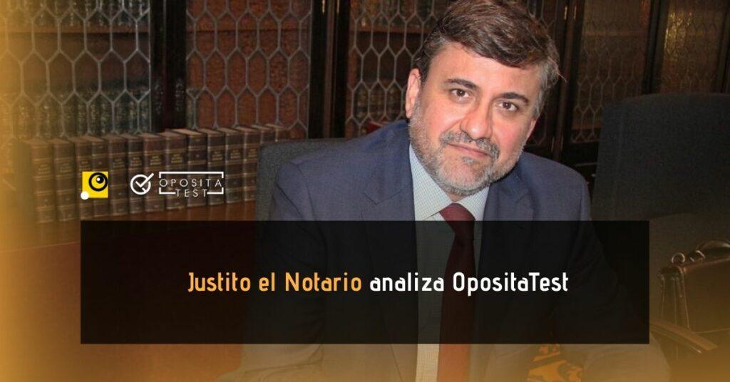 Fotografía de Miguel Prieto Escudero, Justito el Notario, para acompañar una entrada en la que el notario analiza y hace una review de la plataforma online para oposiciones OpositaTest