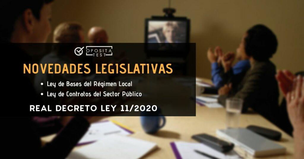 Imagen fuera de foco de sala de reuniones con videoconferencia para ilustrar una entrada en la que se analiza la modificacion de la ley de bases del regimen local en el real decreto-ley 11/2020 de 31 de marzo