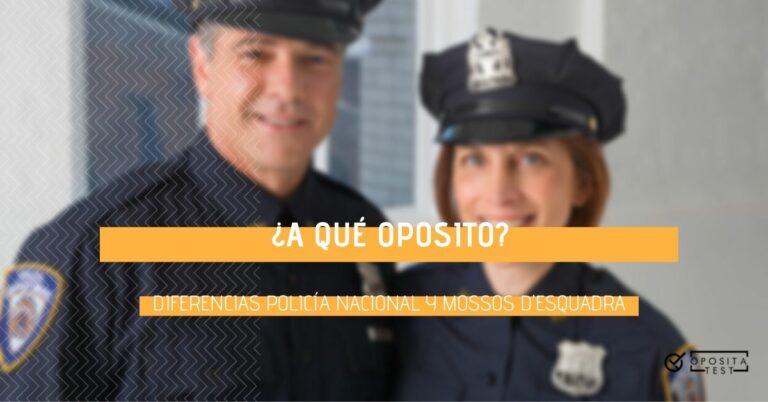 Imagen fuera de foco de dos profesionales de las Fuerzas y Cuerpos de Seguridad del Estado para acompañar un texto en el que se analizan las diferencias entre Policía Nacional y Mossos d'Esquadra en las oposiciones