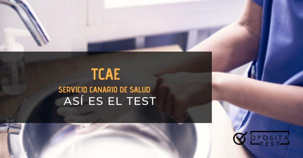 Persona colocándose un guante encima de una pileta. Toda la imagen está fuera de foco. Se utiliza para ilustrar una entrada del test de TCAE del Servicio Canario de Salud.