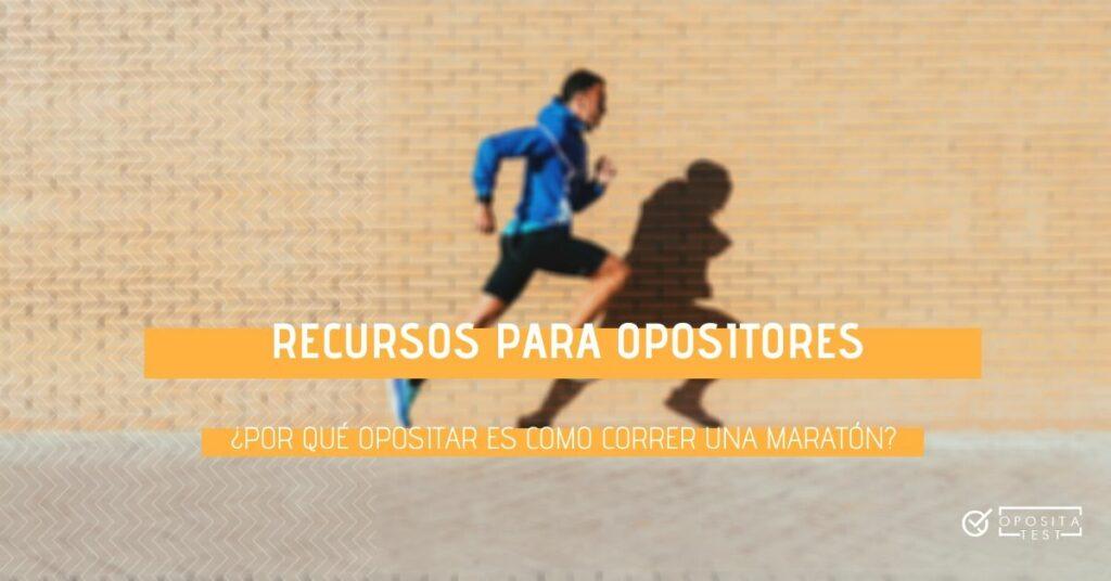 Persona fuera de foco en ropa deportiva corriendo sobre su propia sombra para ilustrar la similitud entre opositar y correr una maratón