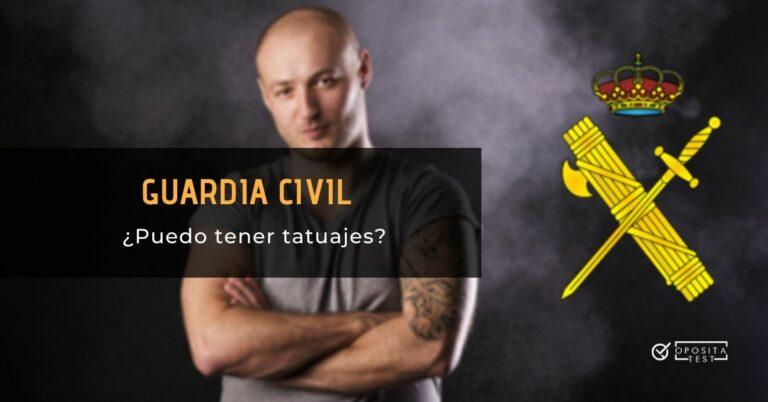 Imagen de persona tonificada en camiseta gris enseñando biceps tatuado para acompañar una entrada en la que se analiza la posibilidad de opositar a Guardia Civil teniendo tatuajes