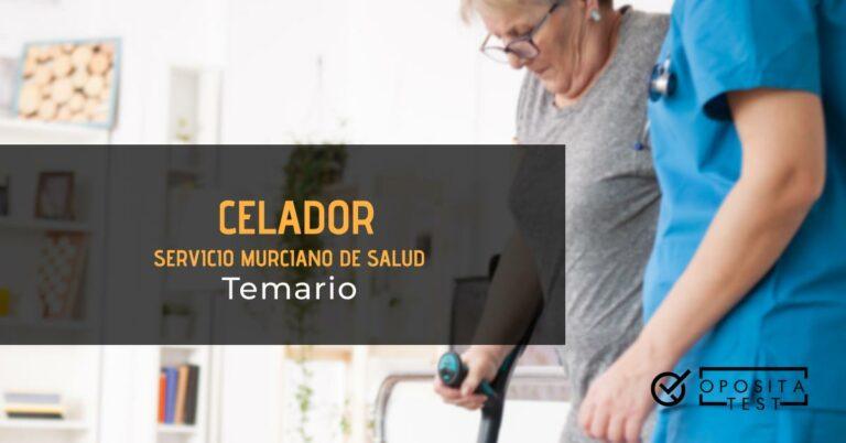 Celadora ayudando a una persona mayor que camina en muletas. Toda la imagen está fuera de foco. Se utiliza para ilustrar una entrada sobre el temario de celador del Servicio Murciano de Salud.