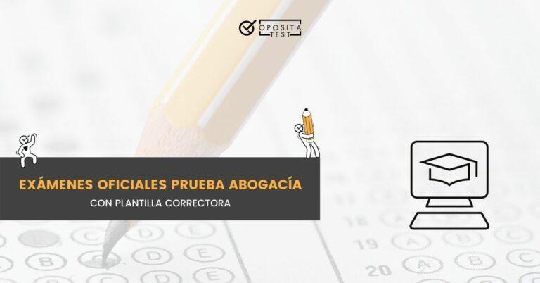 Imagen de plantilla tipo test con lápiz para acompañar una entrada en la que se incluyen los exámenes oficiales de años anteriores de la prueba de acceso a la abogacía en España