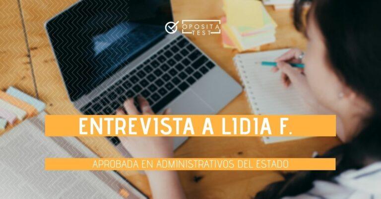Imagen para acompañar la entrevista a Lidia F. sobre su experiencia opositando a Administrativo del Estado