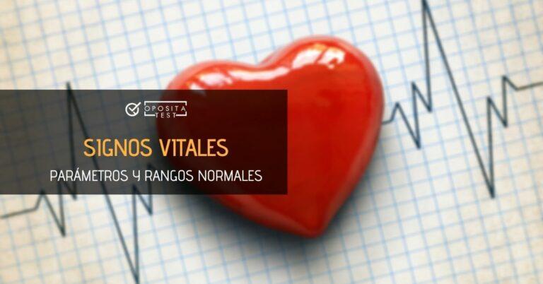Imagen de corazón sobre gráfica de electrocardiograma para acompañar una entrada en la que se analizan los rangos normales en los signos vitales de un paciente