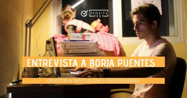 Imagen de Borja Puentes durante una jornada de estudio para ilustrar la entrevista en la que habla de su experiencia como opositor a Ayudante de Instituciones Penitenciarias