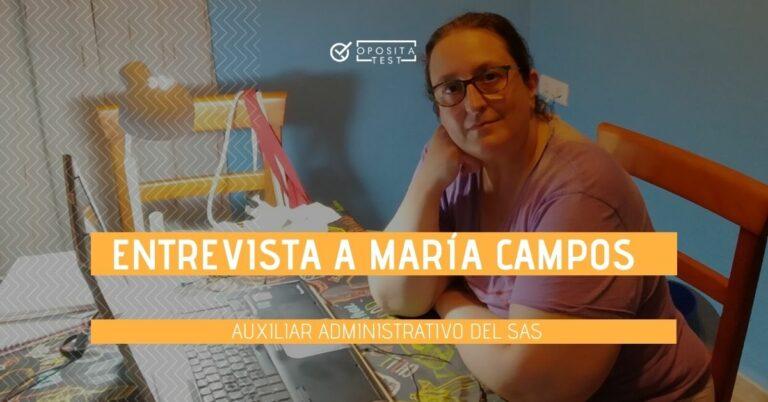 Foto de María Campos para acompañar la entrevista sobre su experiencia opositando a Auxiliar Adminsitrativo del Servicio Andaluz de Salud (SAS)
