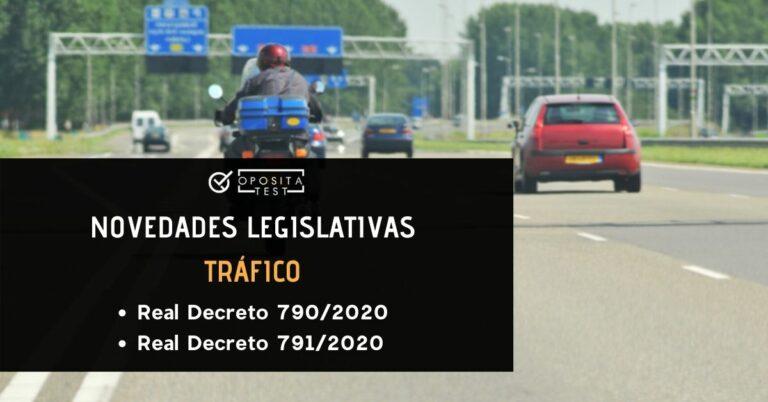 Imagen ilustrativa de vehículos en una autopista sobre las reformas legislativas en trafico derivadas del real dectreo 970/2020 y real decreto 971/2020