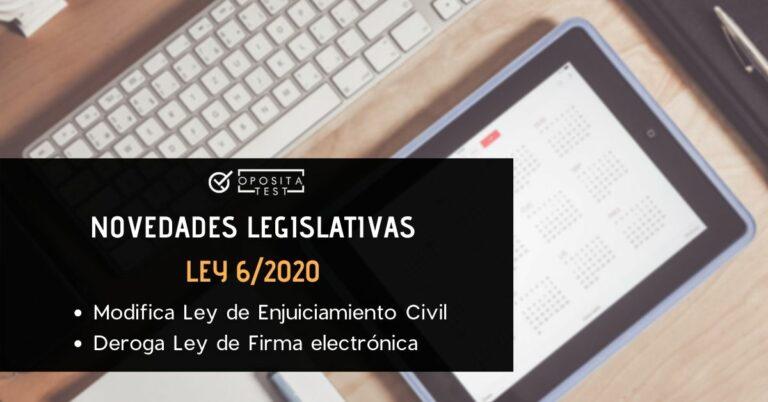 Imagen generica de teclado de ordenador y tableta para acompañar un post en el que se analizan las oposiciones afectadas por la ley 6/2020, que modifica la Ley de Enjuiciamiento Civil (LEC)