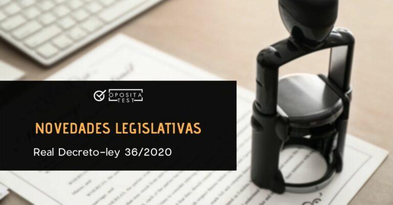 Imagen genérica fuera de foco de sello sobre documento y ordenador portátil para acompañar una entrada en la que se analiza la reforma legislativa derivada del Real Decreto-ley 36/2020
