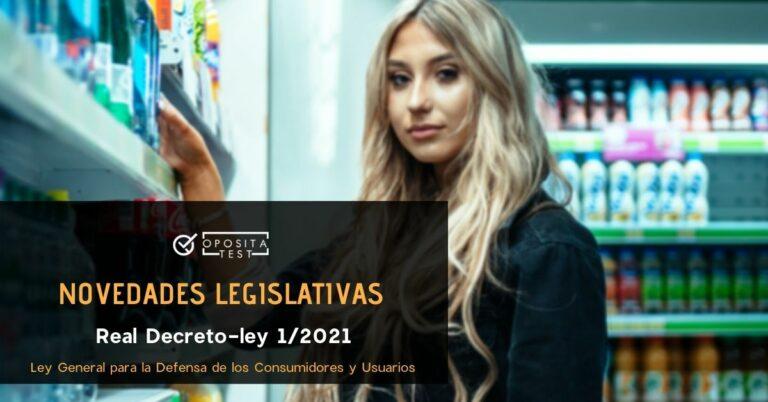 Imagen fuera de foco de persona joven con cabello largo rubio en comercio para acompañar la entrada que analiza las oposiciones afectadas por el Real Decreto-ley 1/2021 que modifica la Ley General para la Defensa de los Consumidores y Usuarios