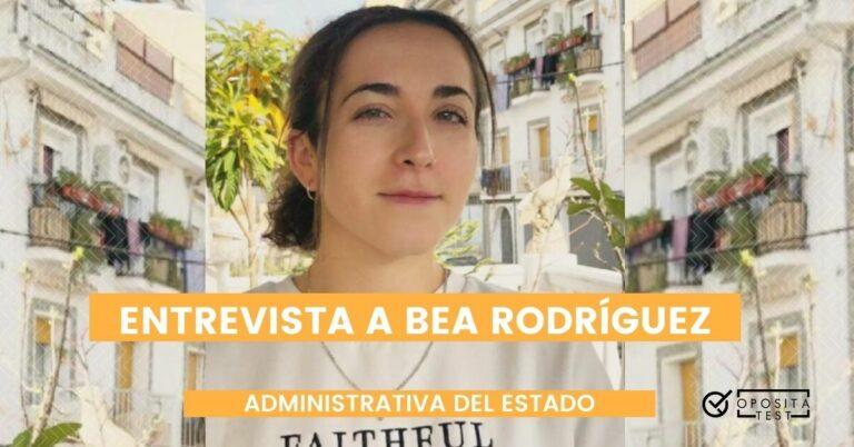 Fotografía de Bea Rodríguez, a quien entrevistamos tras haber aprobado la oposición a Administrativa del Estado